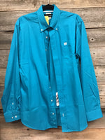 Cinch Teal Button Up