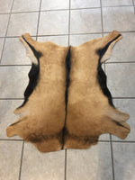 Tan & Black Goat Hide