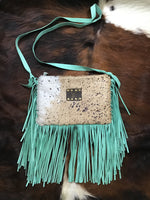 LV and Leopard Acid Washed Cowhide Crossbody