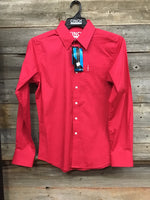 Cinch Red Modern Fit Button Up