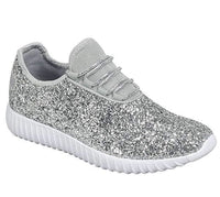 Silver Sparkly Tennis Shoes