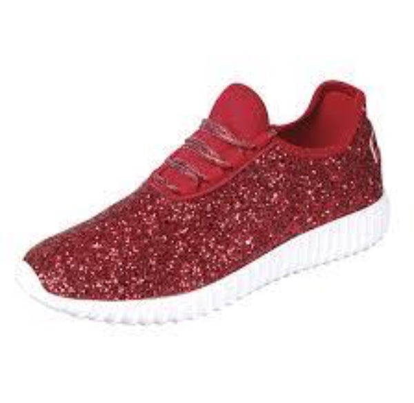 Red Sparkly Tennis Shoes