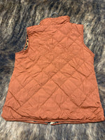 Leopard and Rust Vest (One Size)