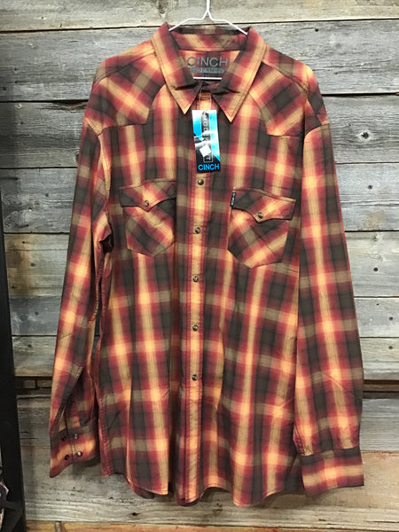Cinch Modern Fit Pearl Snap Red Plaid (xxl)