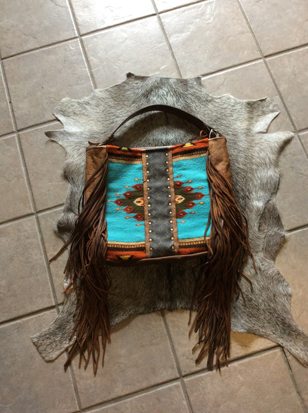 Saddle Blanket, Louis Vuitton and Fringe Large tote