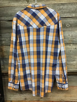 Cinch Modern Fit Yellow Plaid Pearl Snap