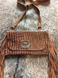 Gator, Louis Vuitton and Fringe crossbody Purse