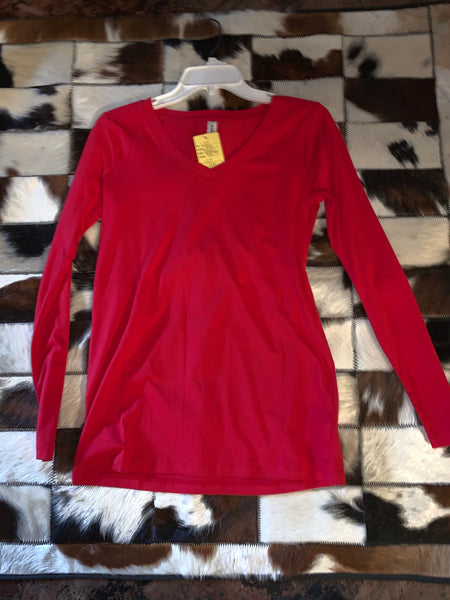 Cherry Red- Long Sleeve