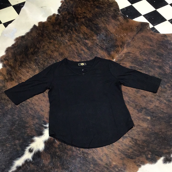 L&B Black 3/4 Sleeve
