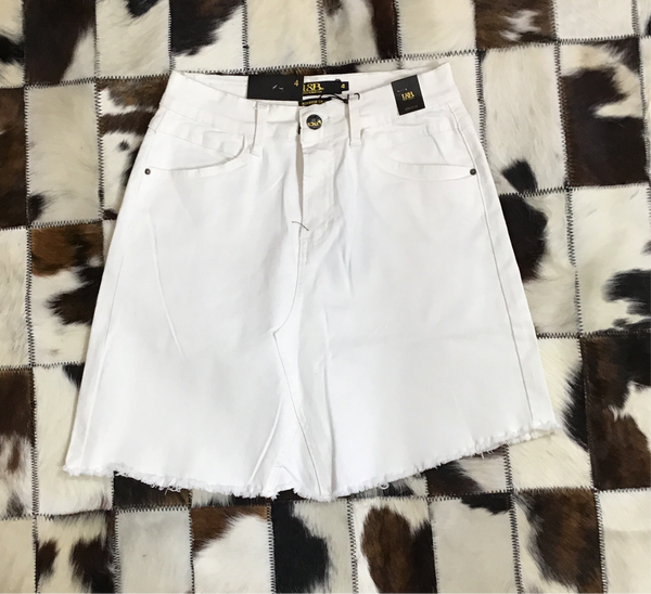 L&B White Denim Skirt
