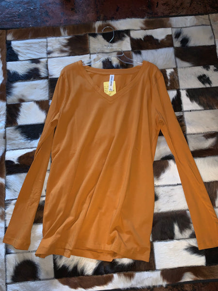 Mustard - Long Sleeve Plain