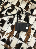 Cowhide and Floral Gator Crossbody