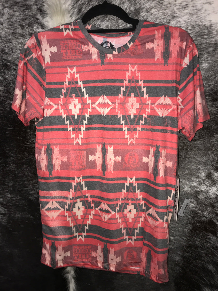 bc7a38733 Dale Brisby Red Aztec Tee