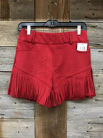 Crazy Train Red Fringe Shorts
