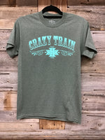 Crazy Train Olive Tee
