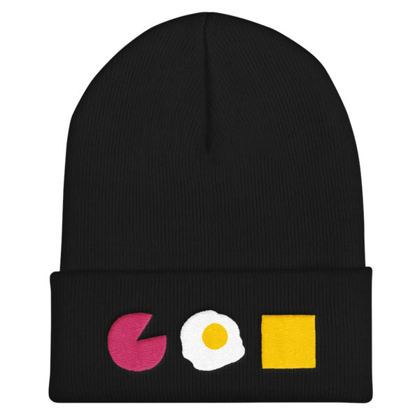 Taylor Ham Pork Roll Egg and Cheese Embroidered Beanie Skull Cap