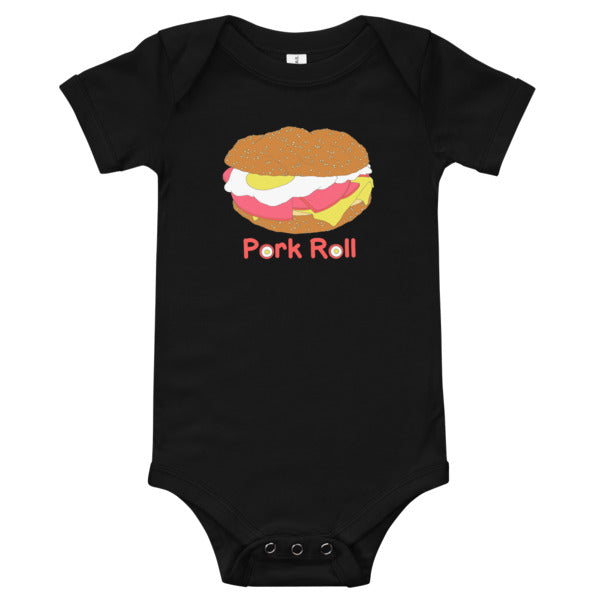 Pork Roll Egg and Cheese One Piece Infant Bodysuit