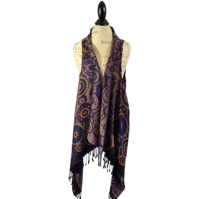 Blue and Golden Butterfly Vest