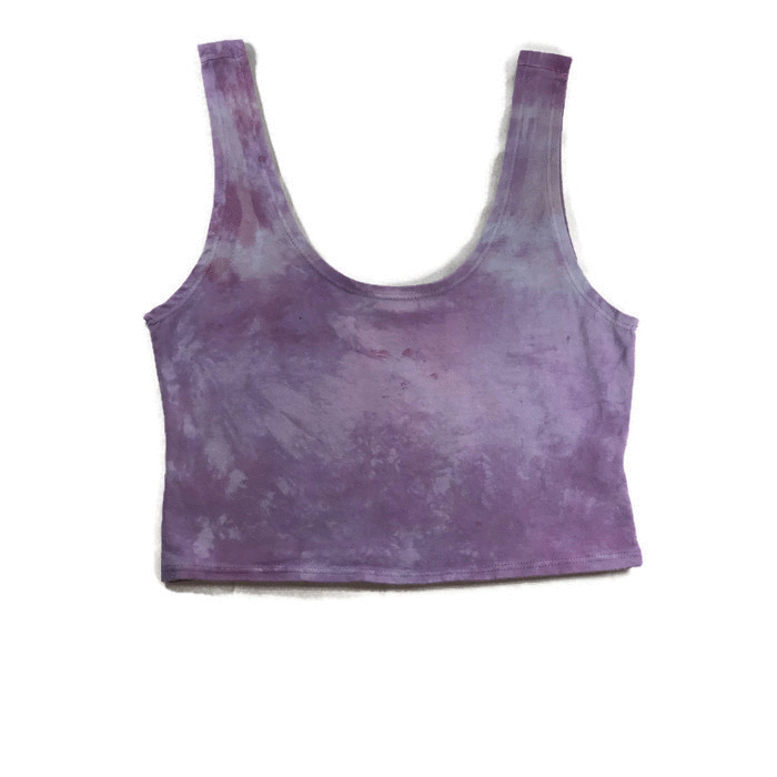 Purple Quartz Crop Top