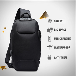 ANTI-THEFT WATERPROOF BACKPACK WITH USB CHARGING PORT AND DIGITAL LOCK