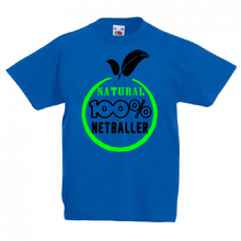 Load image into Gallery viewer, Natural Netballer Tee - Adult - Sportologyonline