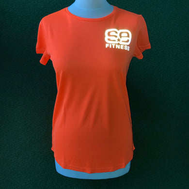 SE Fitness Orange Reflective T-Shirt - Short Sleeve - Sportologyonline
