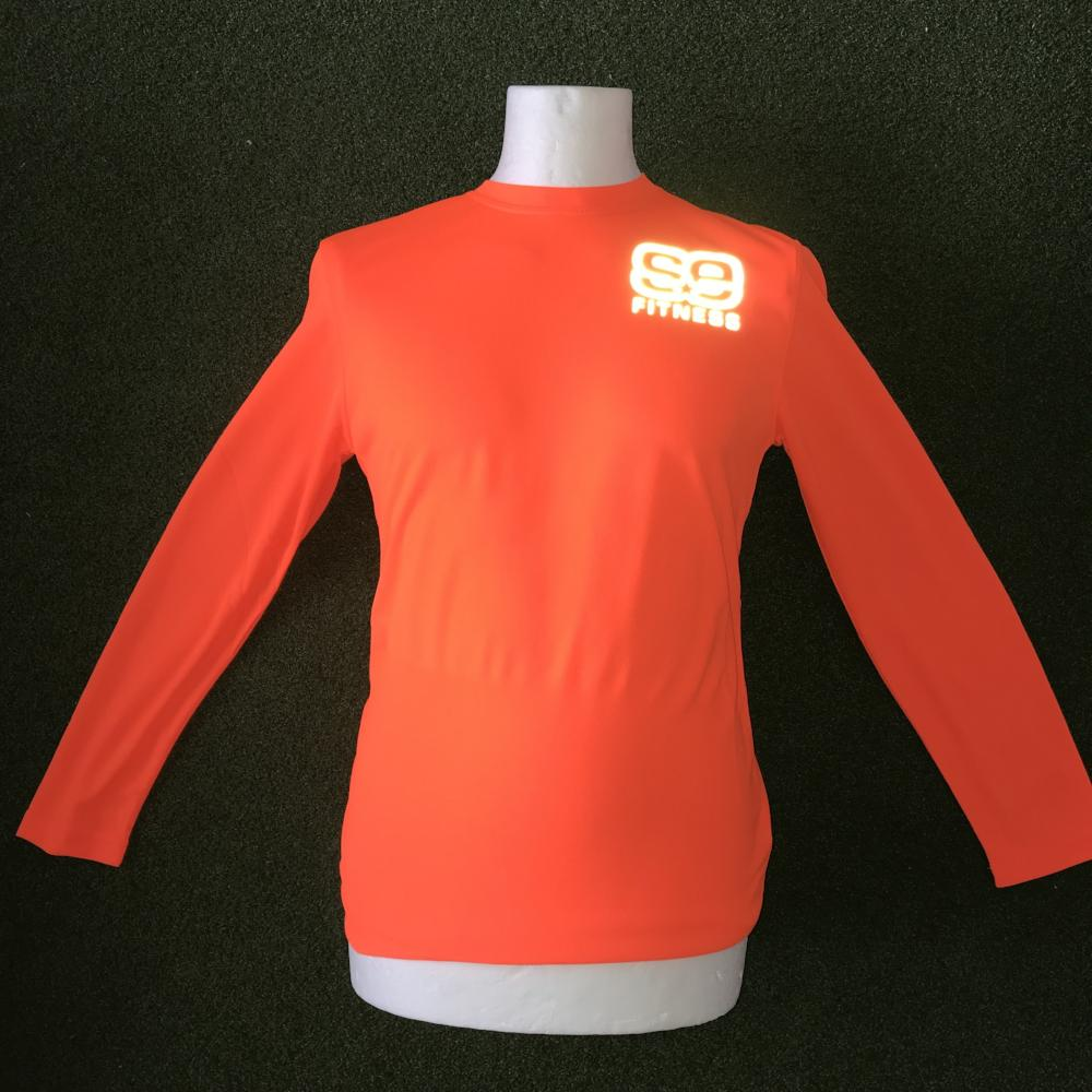 SE Fitness Orange Reflective T-Shirt - Long Sleeve - Sportologyonline