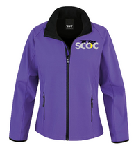 Load image into Gallery viewer, TRSCOC Womens Softshell Jacket Purple/Black