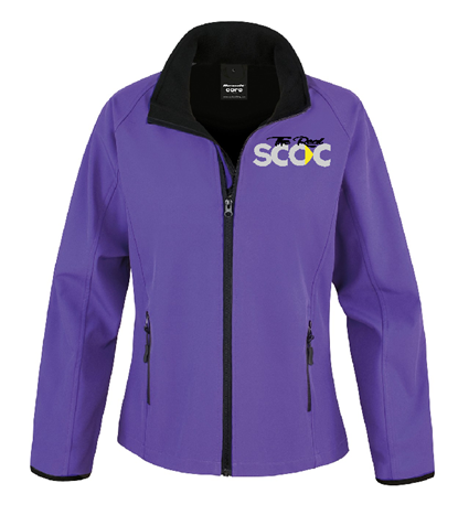 TRSCOC Womens Softshell Jacket Purple/Black