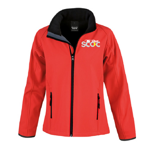TRSCOC Womens Softshell Jacket Red/Black