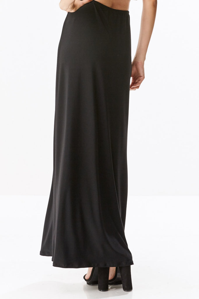 Ponte Long Straight Fitting Maxi Skirt