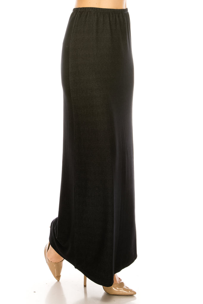 Slinky Long Straight Fitting Maxi Skirt - CHI-CHI NYC