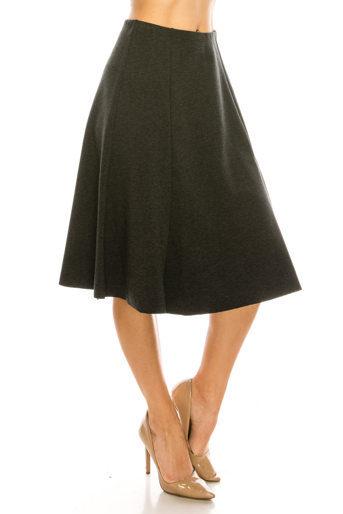 Seven Panel A-Line Below The Knee Midi Skirt - CHI-CHI NYC