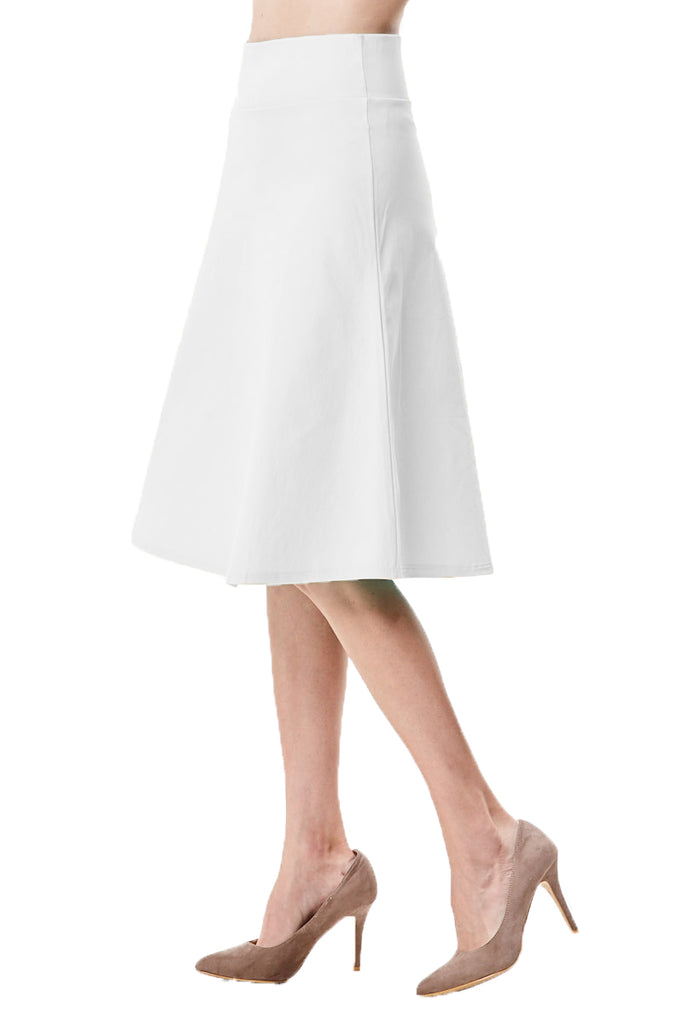 Delilah A-line Flared High Waist Knee Length Midi Skirt - CHI-CHI NYC