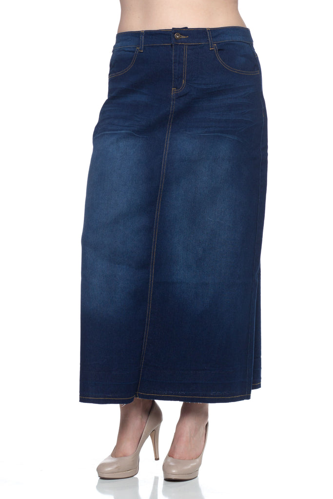 Tati A-line Maxi Denim Skirt - CHI-CHI NYC