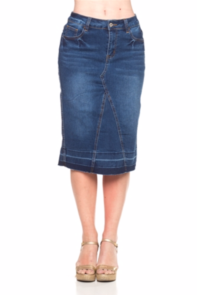 Patricia Denim Pencil Skirt - CHI-CHI NYC