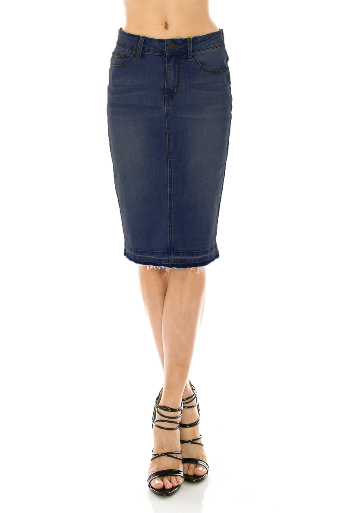 Norah Denim Pencil Skirt - CHI-CHI NYC