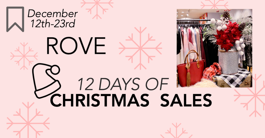 Rove's 12 Days of Christmas Sales