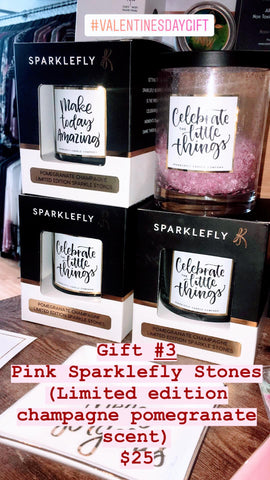 Sparklefly Candle Company Sparkle Stones Set - Pomegranate Champagne in Pink