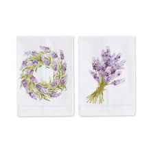 Load image into Gallery viewer, Lavender Handpainted Cotton Guest Towels (2 Styles)