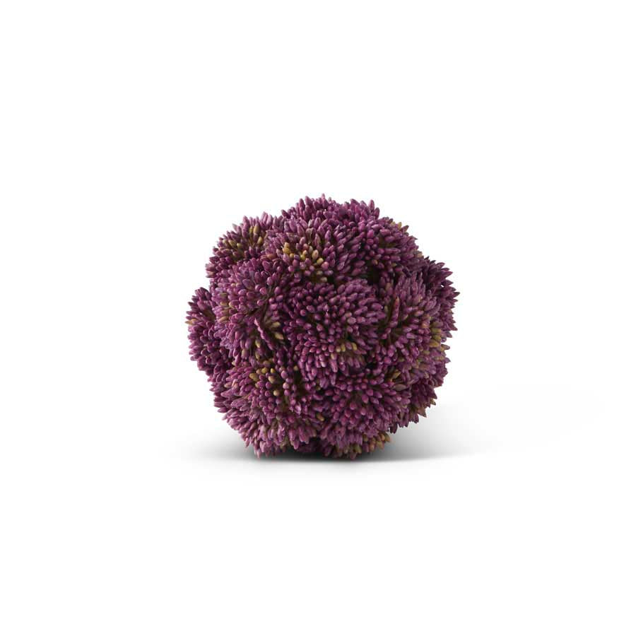 4 Inch Dark Purple Sedum Ball