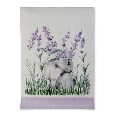 Lumbar Lavender and Bunny Table Runner
