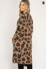 Load image into Gallery viewer, Open Front Leopard Print Fuzzy Cardigan
