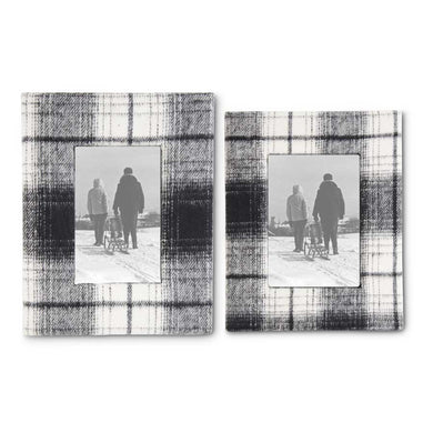 Black & Cream Plaid Photo Frames (2 Sizes)
