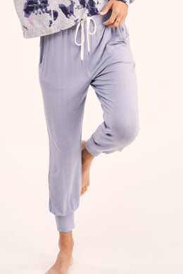 Light Blue Drawstring Sweatpants