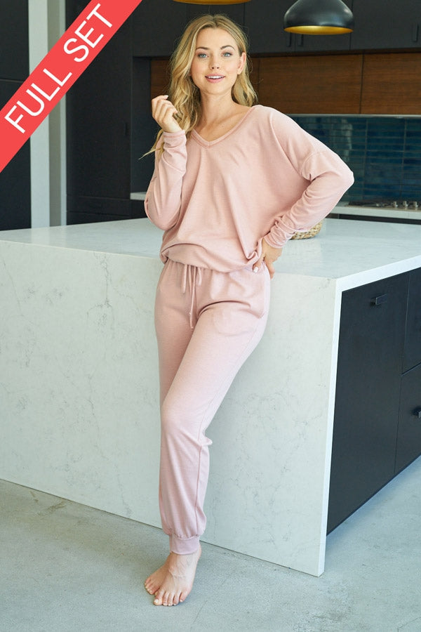 Solid Light Pink Lounge Pant