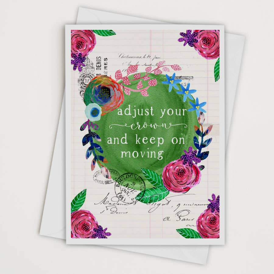 Adjust Your Crown Greeting Card/Art Print Card