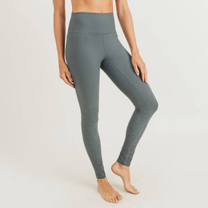 Metallic Raindrop Foil Highwaist Leggings