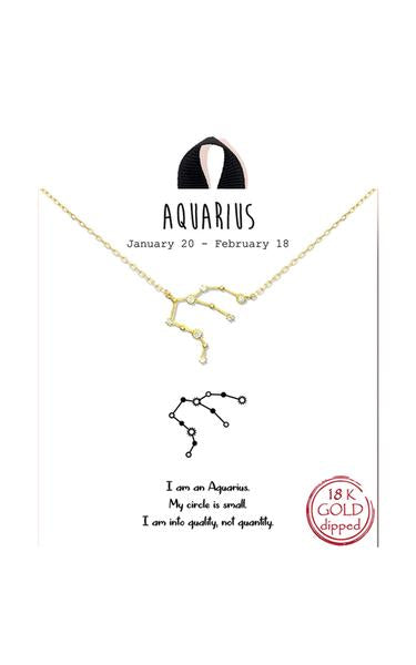 Gold Dipped Zodiac Constellation Necklace