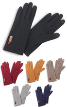 Load image into Gallery viewer, Fuzzy Button Faux Suede Gloves - 6 Colors